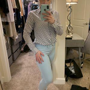 Banana republic striped blouse